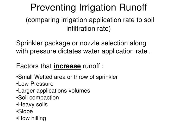 Preventing Irrigation Runoff