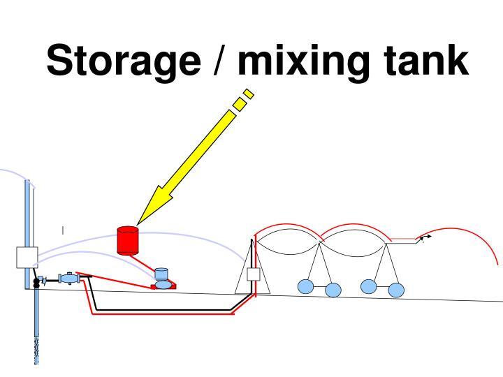 Storage / mixing tank