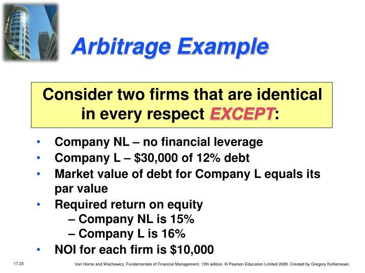 Arbitrage Example