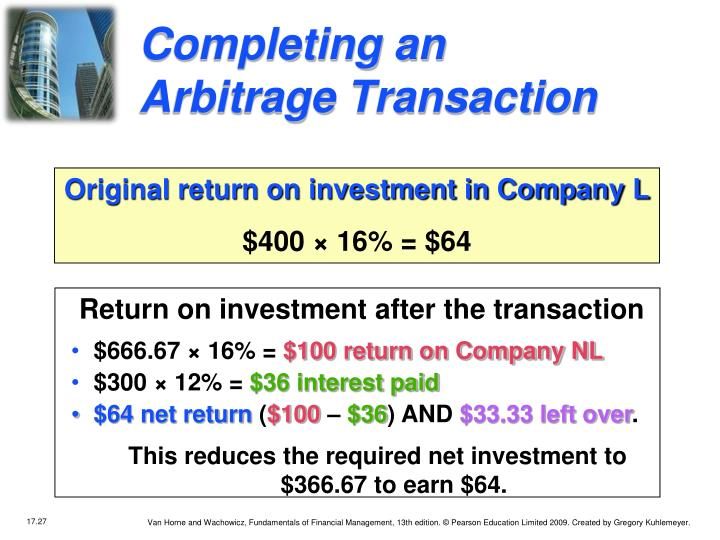 Completing an Arbitrage Transaction