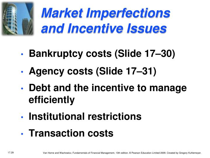 Market Imperfections and Incentive Issues