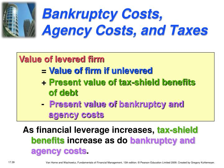 Bankruptcy Costs, Agency Costs, and Taxes