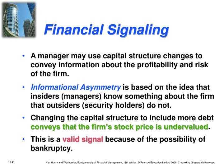Financial Signaling