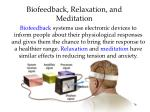 biofeedback relaxation and meditation