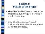 section 1 politics of the people