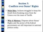 section 3 conflicts over states rights