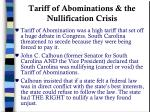 tariff of abominations the nullification crisis