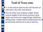trail of tears cont
