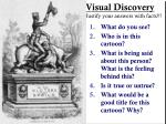 visual discovery justify your answers with facts