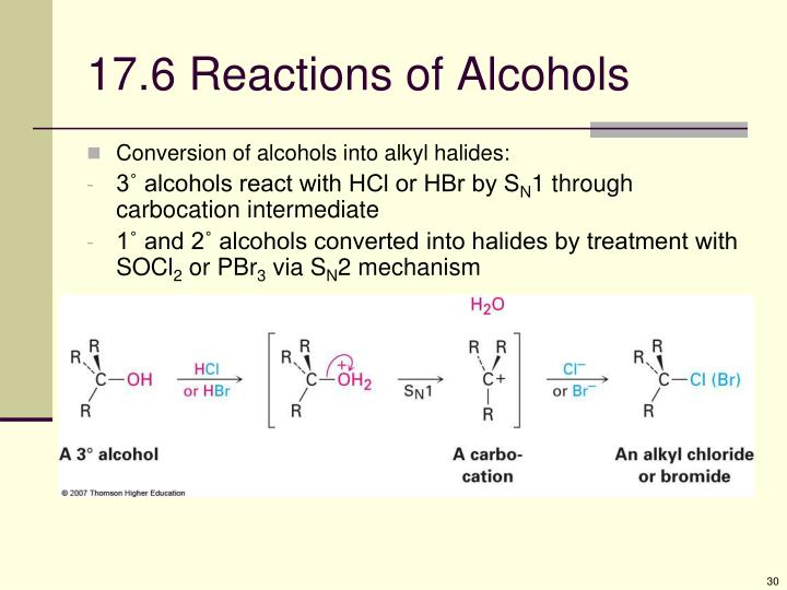 17.6 Reactions of Alcohols