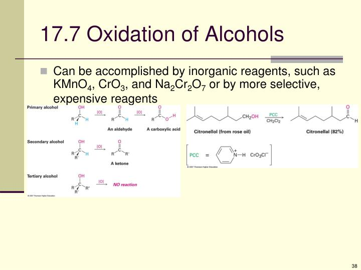17.7 Oxidation of Alcohols