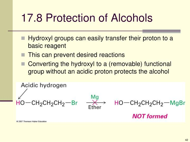 17.8 Protection of Alcohols