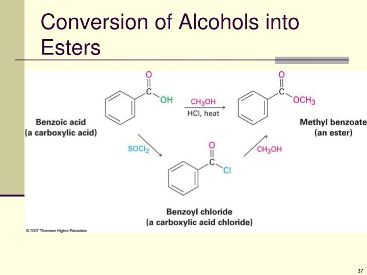 Conversion of Alcohols into Esters