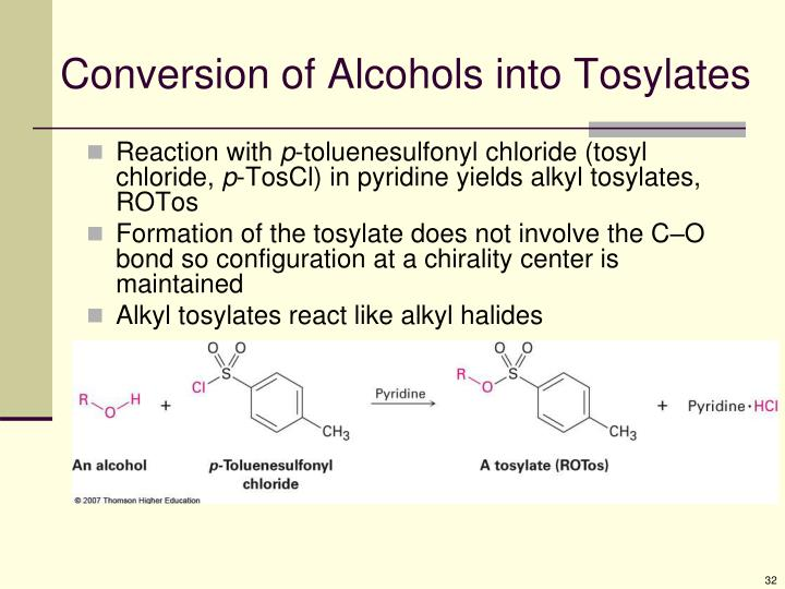 Conversion of Alcohols into Tosylates