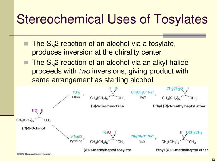 Stereochemical Uses of Tosylates