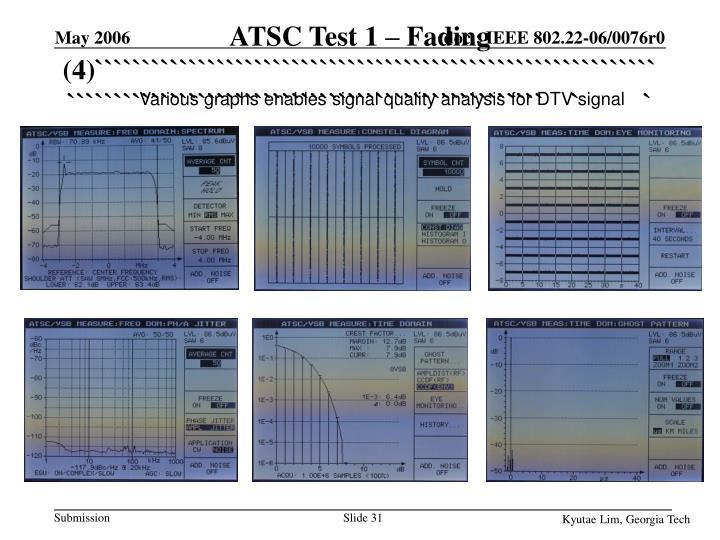 ATSC Test 1 – Fading (4)`````````````````````````````````````````````````````````````````````````````````````````````````````````````````
