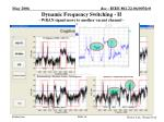 dynamic frequency switching ii wran signal move to another vacant channel