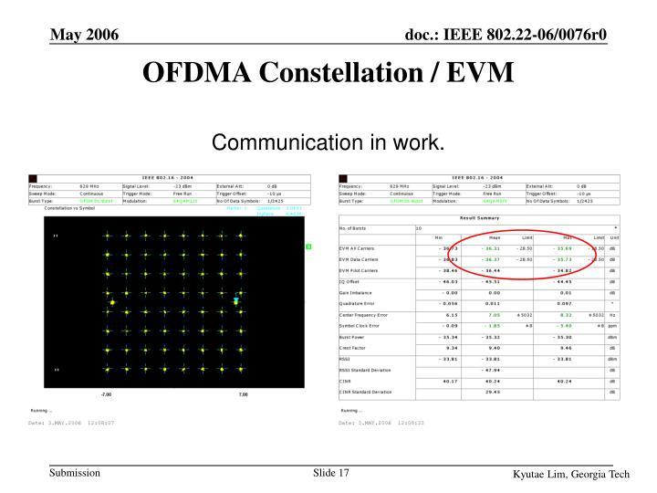 OFDMA Constellation / EVM