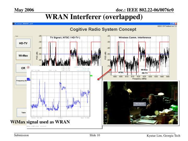 WRAN Interferer (overlapped)