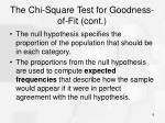 the chi square test for goodness of fit cont