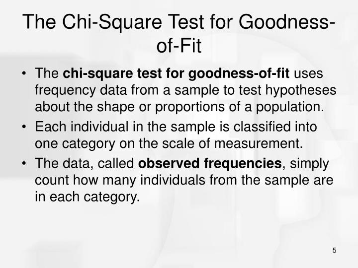 The Chi-Square Test for Goodness-of-Fit