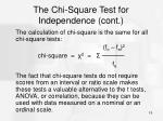 the chi square test for independence cont9
