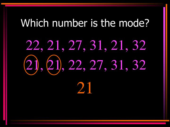 Which number is the mode?