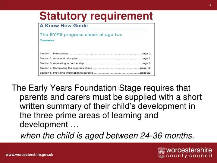 Statutory requirement