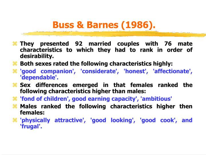 Buss & Barnes (1986).