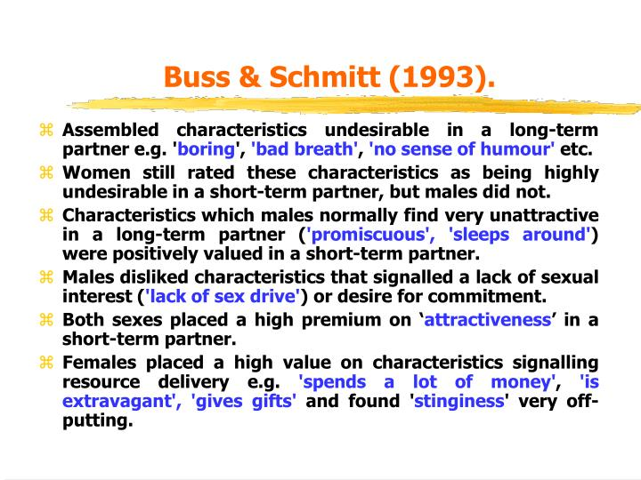 Buss & Schmitt (1993).