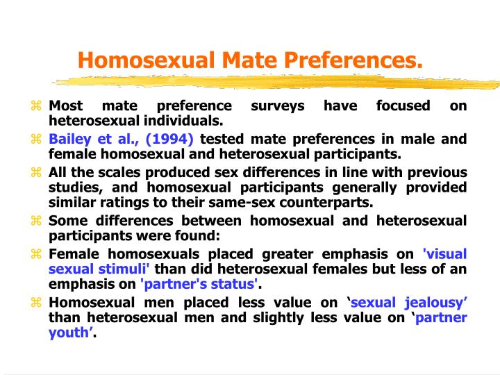 Homosexual Mate Preferences.