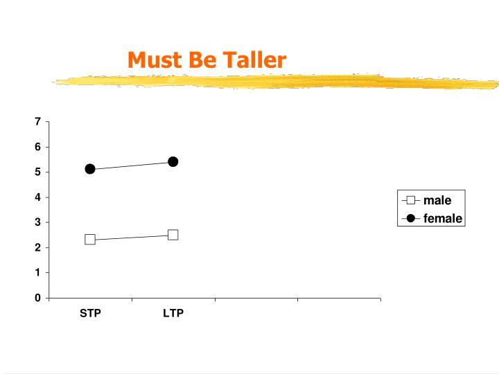 Must Be Taller