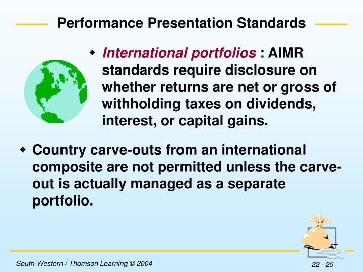 International portfolios
