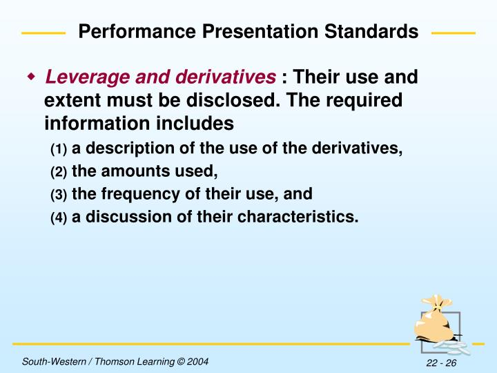 Performance Presentation Standards