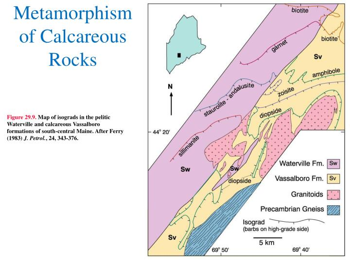 Metamorphism of Calcareous Rocks