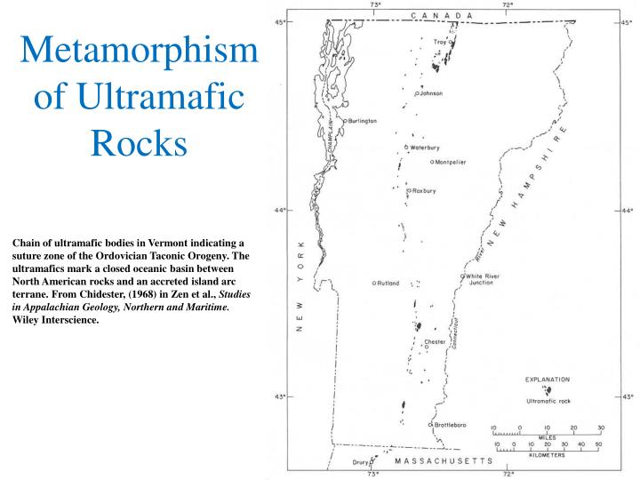 Metamorphism of Ultramafic Rocks