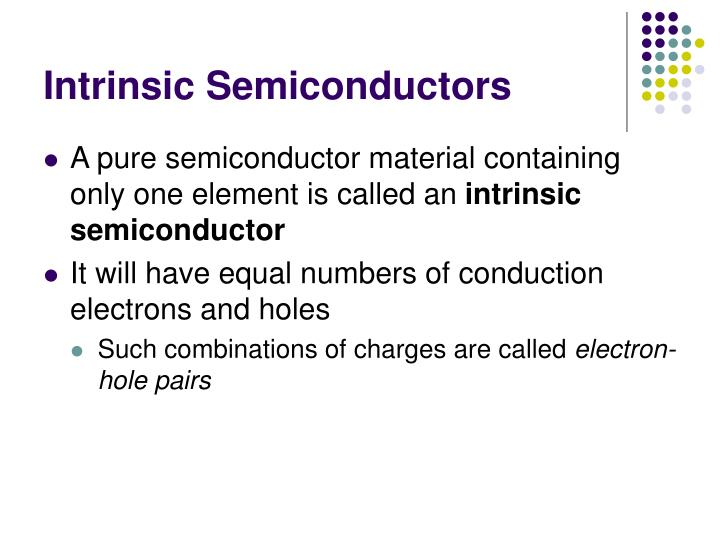 Intrinsic Semiconductors
