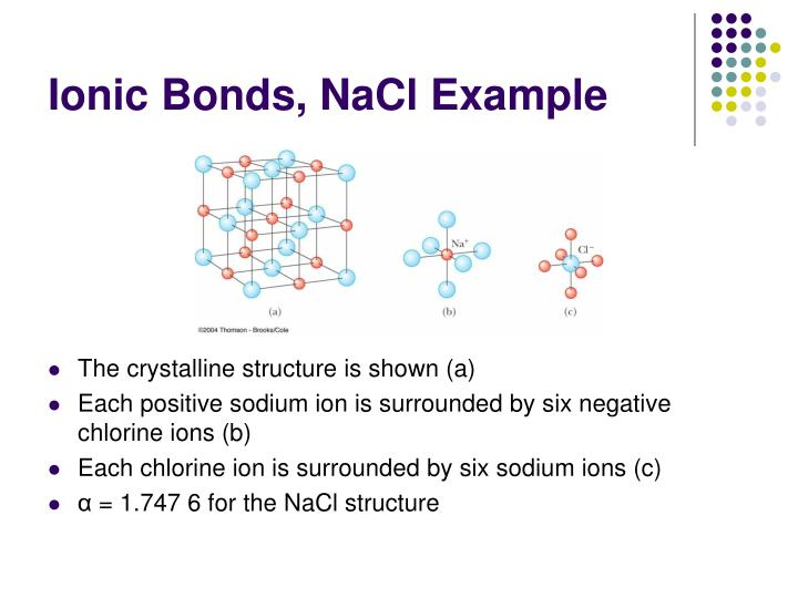 Ionic Bonds, NaCl Example