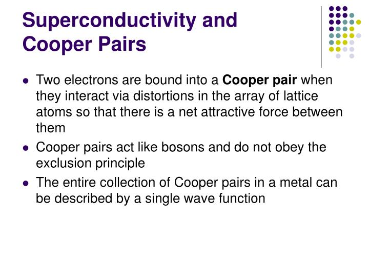Superconductivity and