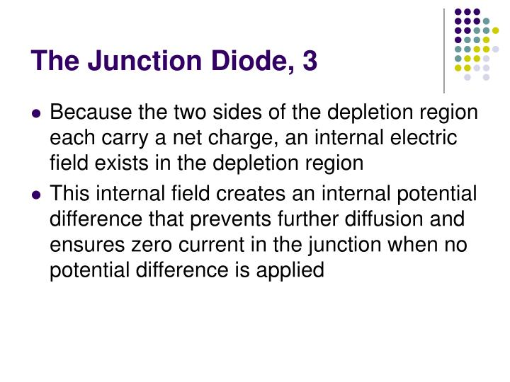 The Junction Diode, 3