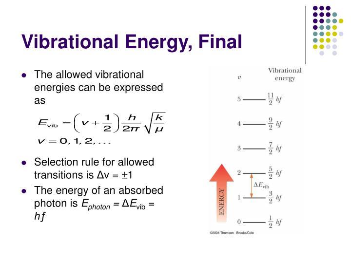 Vibrational Energy, Final