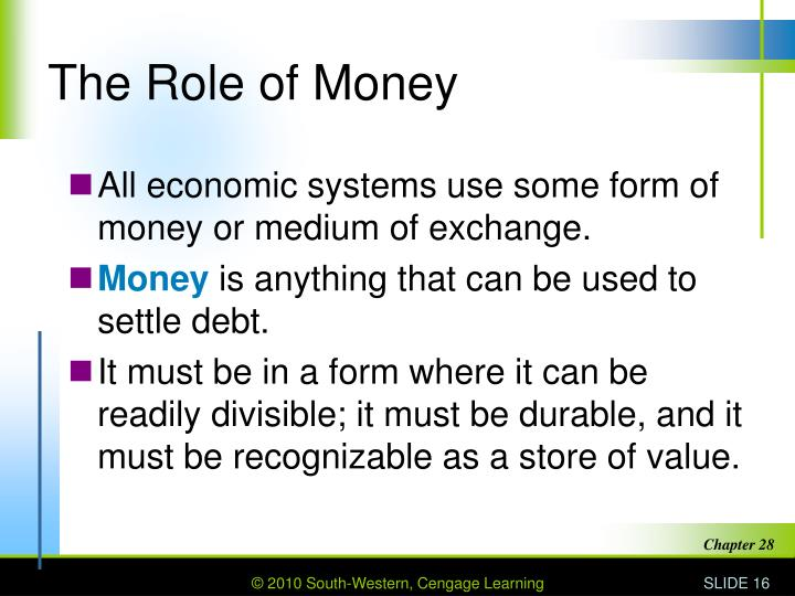 What is the Role of Money in a Capitalist Economy?