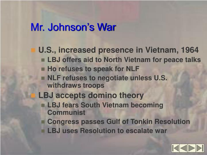 Mr. Johnson's War