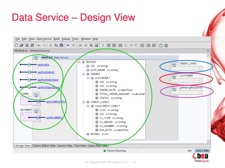 Data Service – Design View