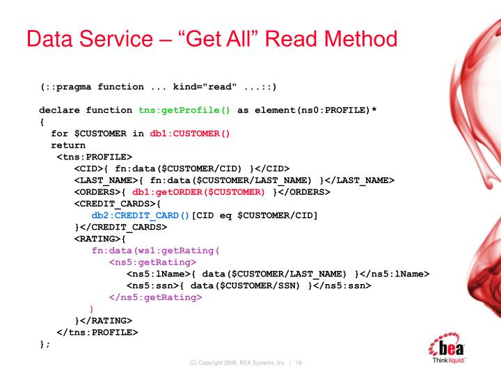 "Data Service – ""Get All"" Read Method"