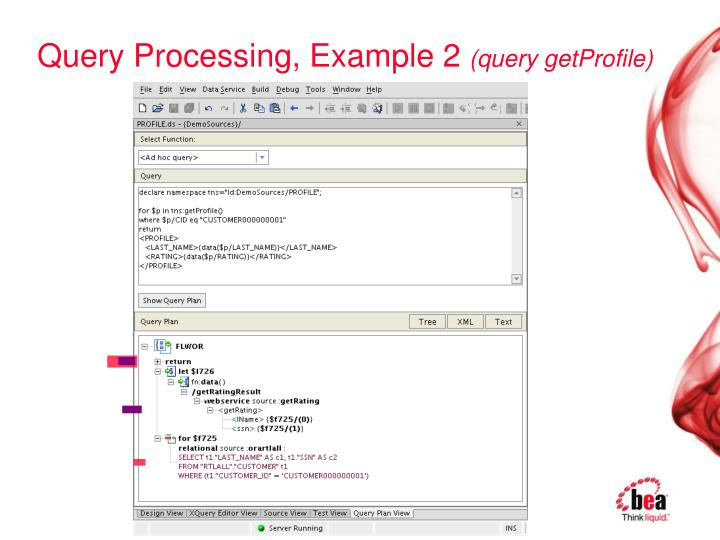 Query Processing, Example 2