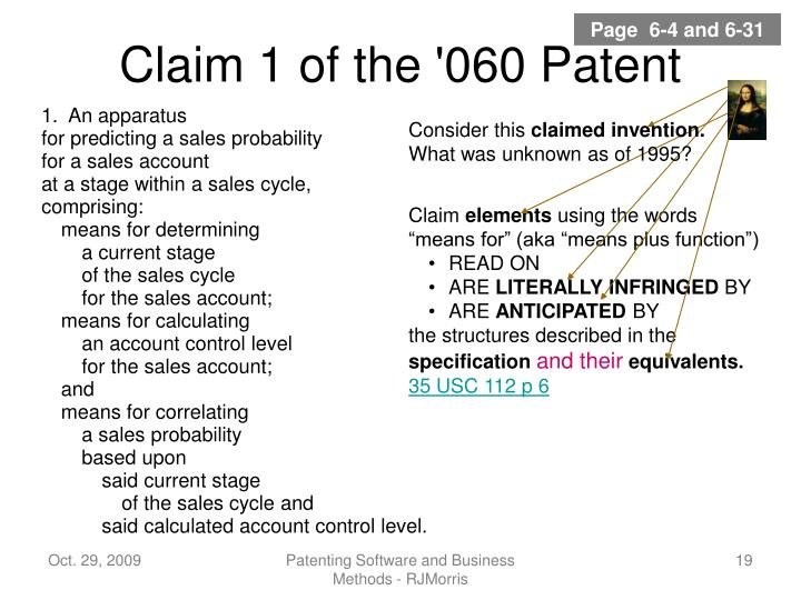 Claim 1 of the '060 Patent