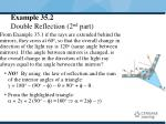 example 35 2 double reflection 2 nd part