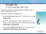 example 35 6 a view from the fish s eye