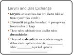 larynx and gas exchange